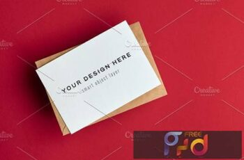 A6 Greeting Card Mockup - 5722867 4