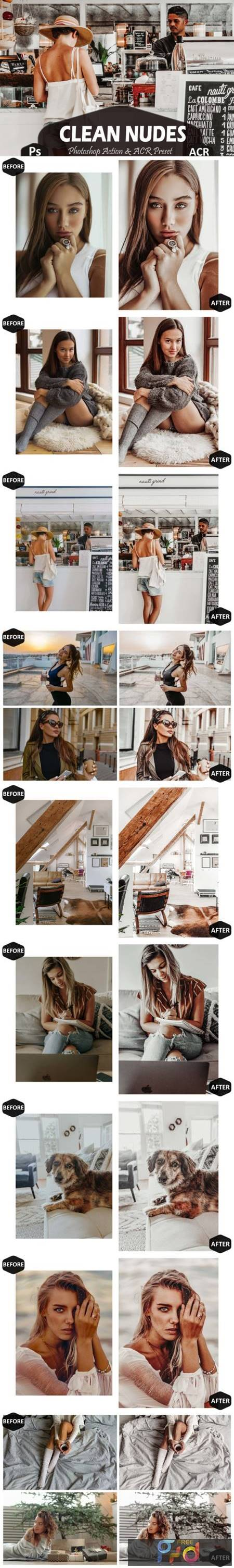 10 Clean Nudes Photoshop Actions and ACR 7100406 1