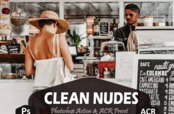 10 Clean Nudes Photoshop Actions and ACR 7100406 2