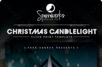 Christmas Candlelight Service Flyer Template - 29376718 6