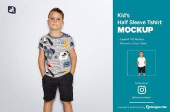 Kids Half Sleeve Tshirt Mockup 5242214 15