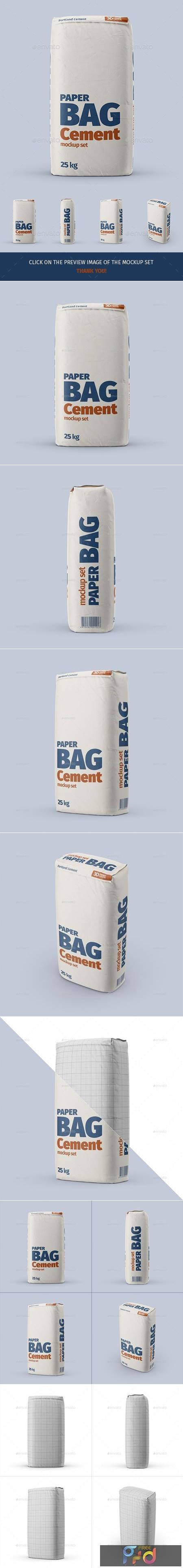 Paper Cement Bag Mockup Set - 29431930 1