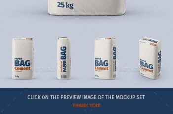 Paper Cement Bag Mockup Set - 29431930 6