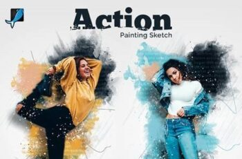 Painting Sketch Photoshop Action 29477559 6