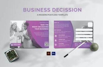 Business Decissions Postcard KEPZ9DV 4