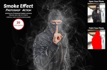Smoke Effect Photoshop Action 5583653 2