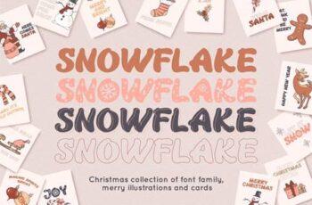 Snowflake Christmas font family 5539934 1