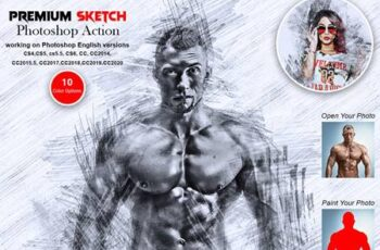 Premium Sketch Photoshop Action 5571177 2