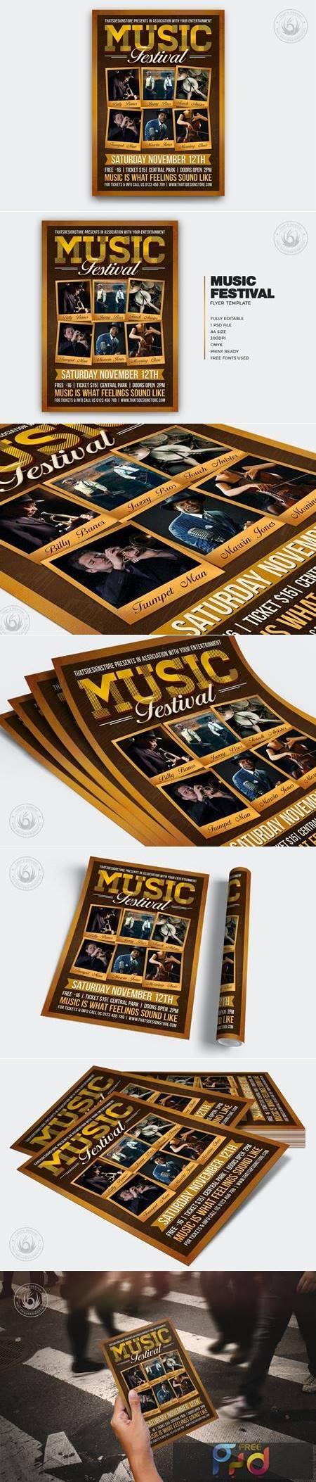 Music Festival Flyer Template V7 UBGMXGE 1