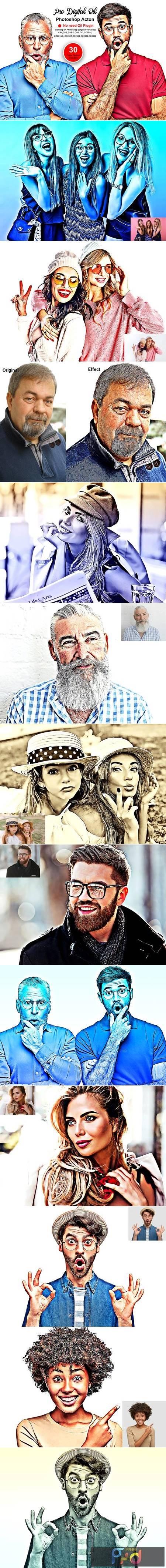 Pro Digital Oil Photoshop Action 5493798 1