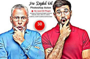 Pro Digital Oil Photoshop Action 5493798 6