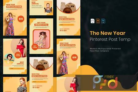 New Year Collection - Pinterest Post Template NJ8K99B 1