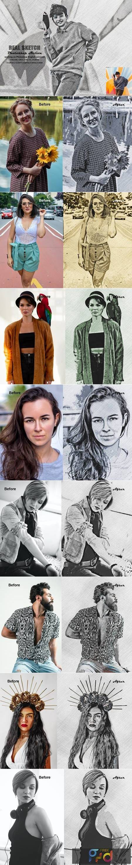 Real Sketch Photoshop Action 5493808 1