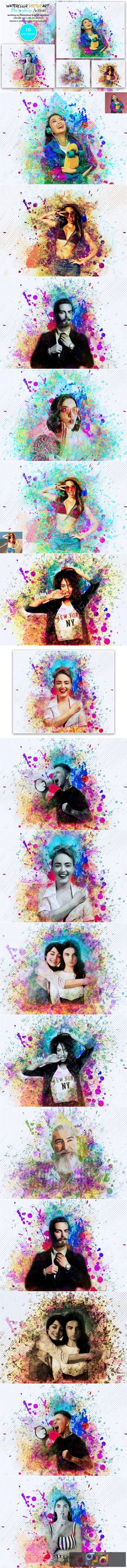 Watercolor Vector Art PS Action 5566054 1