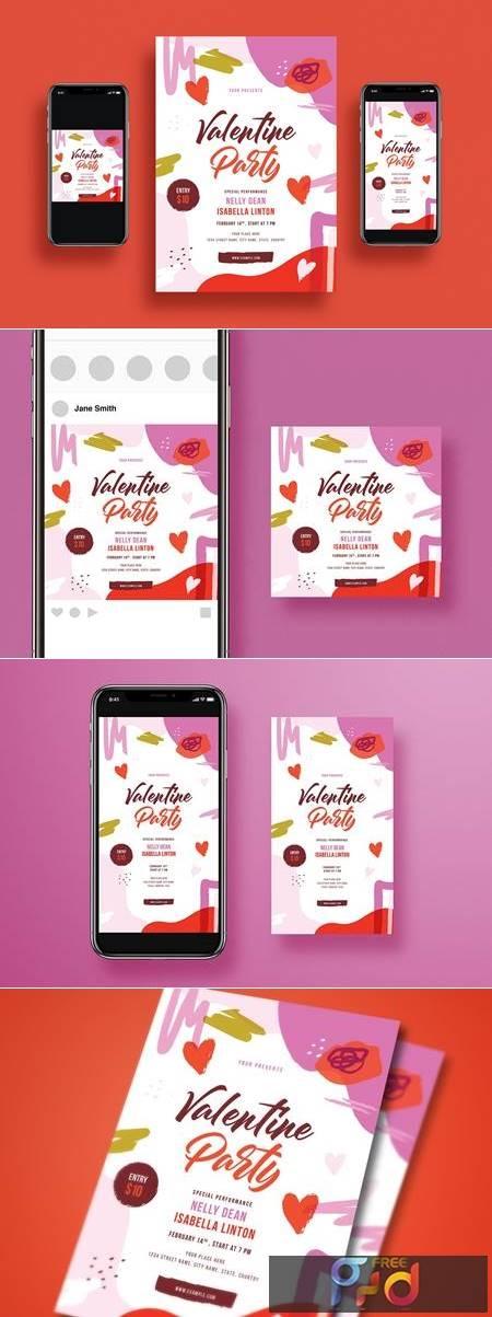 Valentines Day Party Flyer Set GGU4L5M 1