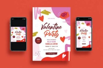 Valentines Day Party Flyer Set GGU4L5M 15