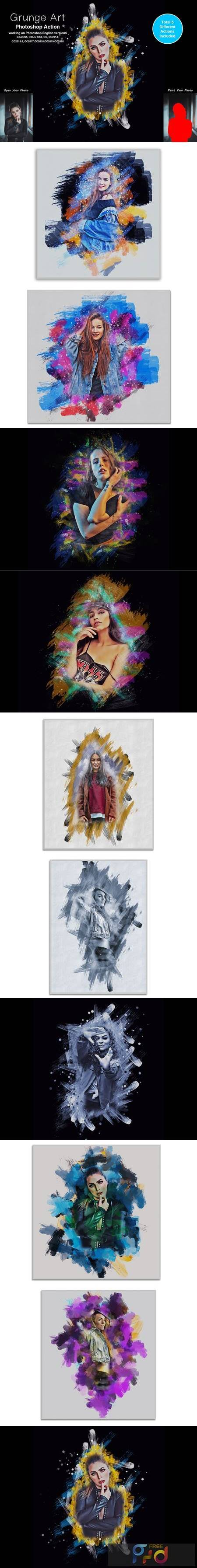 Grunge Art Photoshop Action 5442223 1