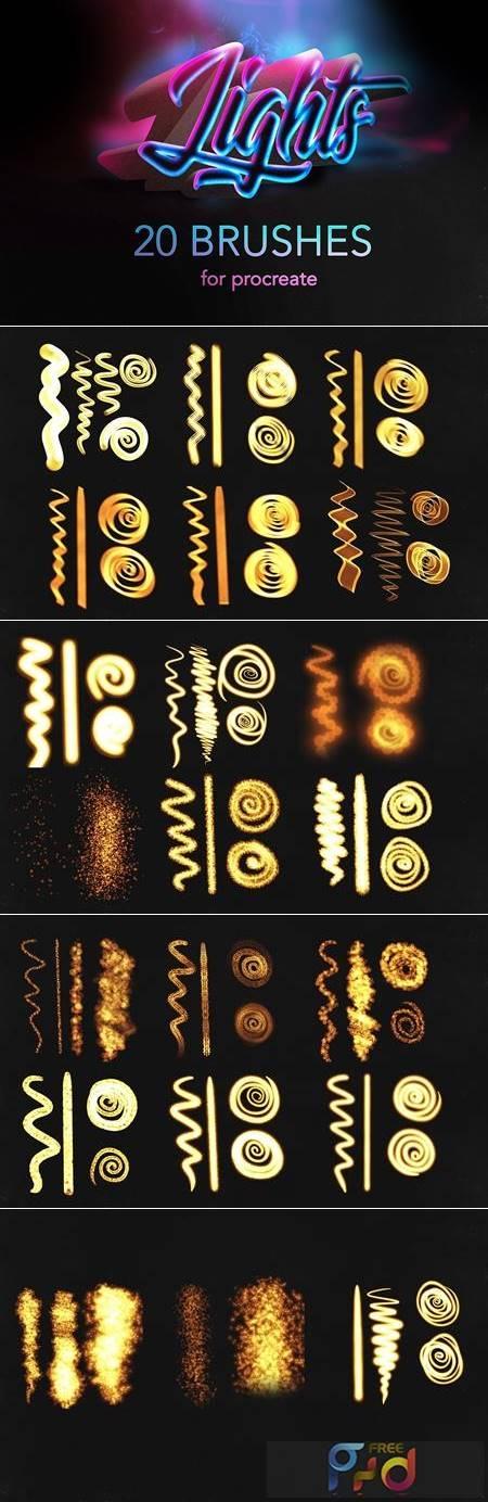 Procreate lights brushes - glow 5498789 1