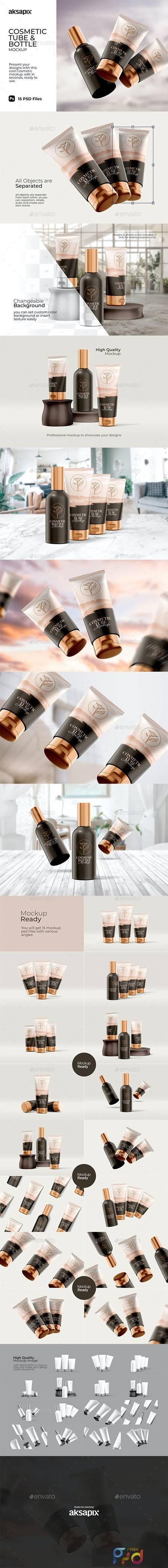 Cosmetic Tube & Bottle - Mockup 29810114 1