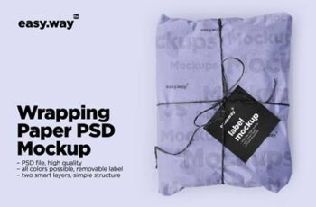 Wrapping Paper Psd Mockup 5635152 5