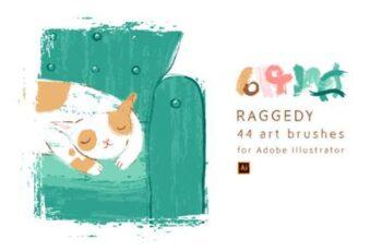 Raggedy Art Brushes for Illustrator 6941270 10