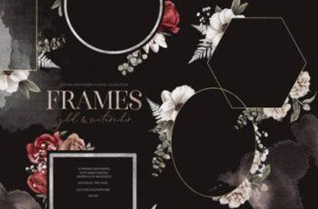 Spring Awaikening- Floral Frames PNG 7088120 9