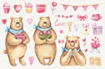 Watercolor Valentines Day Clipart 7071325 14