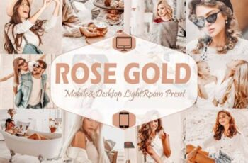 10 Rose Gold Mobile & Desktop Lightroom 7099161 5