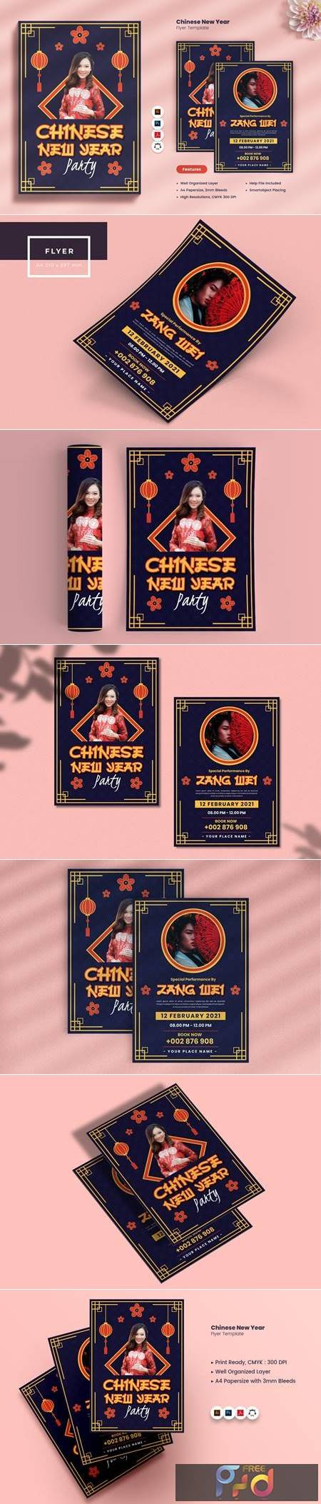Chinese New Year Party Flyer 7JCH8XH 1