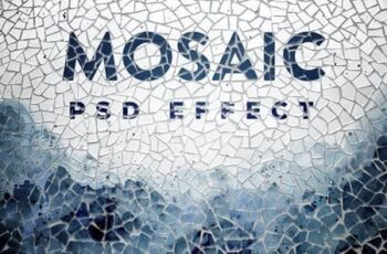 Mosaic Photo Effect Mockup KFFCPJX 2