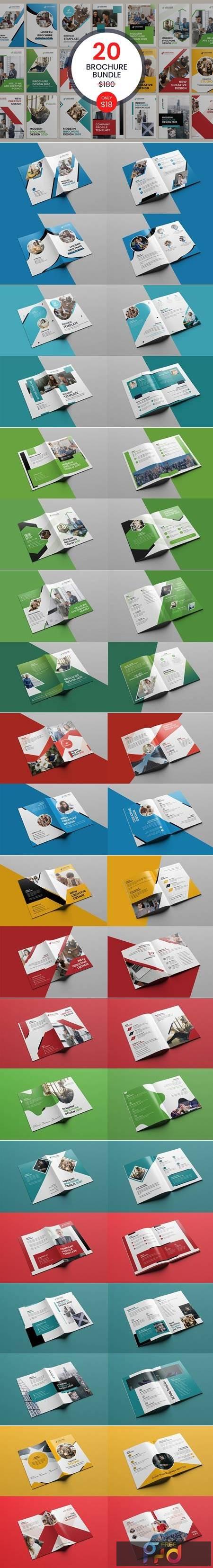 20 Bi-fold Brochure Template Bundle 5487372 1