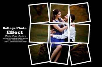 Collage Photo Effect PS Action 5540326 2