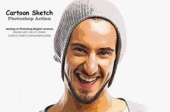 Cartoon Sketch Photoshop Action 5241627 2