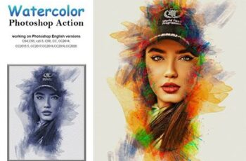 Watercolor Photoshop Action 5232780 6