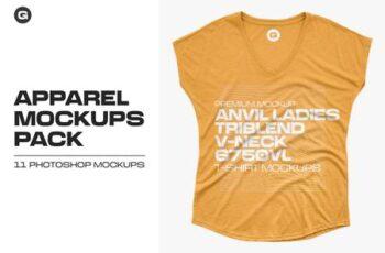 Anvil Ladies Triblend 6750VL Mockups 5582271 2