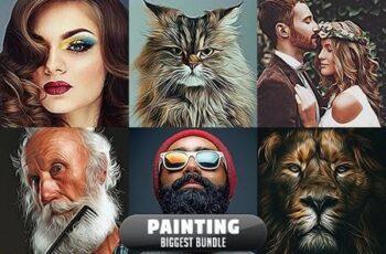 Painting Biggest Bundle - 10 Photoshop Actions 29895309 2