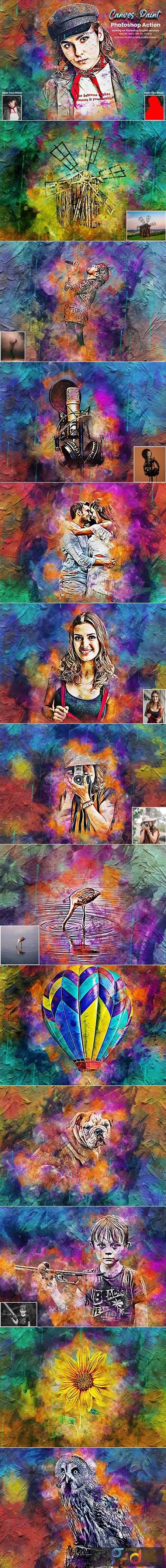 Canvas Paint Photoshop Action 5634725 1