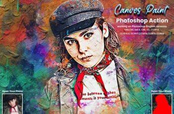 Canvas Paint Photoshop Action 5634725 2