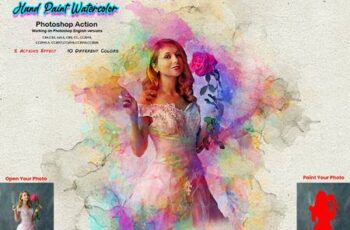 Hand Paint Watercolor Photoshop Action 5628157 7