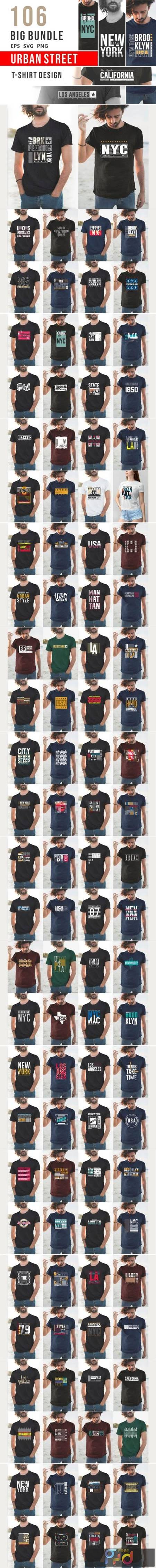 Urban Street T-shirt Design Bundle 6726832 1