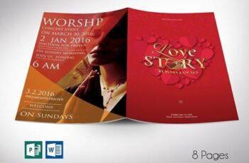 Valentines Love Story Program Word 5621714 5