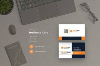 Modern Business Card Template XLE88DF 3