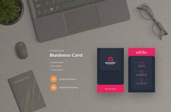 Stylish Business Card Template ASMUCP3 3