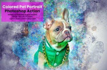 Colored Pet Portrait PS Action 5635740 7
