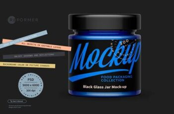 Black Glass Jar Mock-up 5506280 4