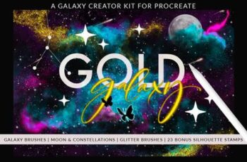 Galaxy Creator Kit for Procreate 5735662 9