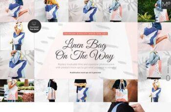 Linen Bag On The Way Mockups Bundle 5224412 6