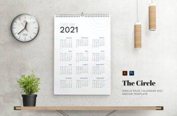 Circle Calendar AV3UNCM 8