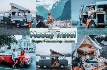 Moody Travel Photoshop Actions 98U3FDQ 12
