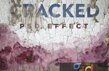 Cracked Painted Texture Mockup HPUXS6G 2